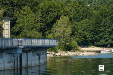 Barrage du Lac de Pareloup côté Arvieu en Aveyron