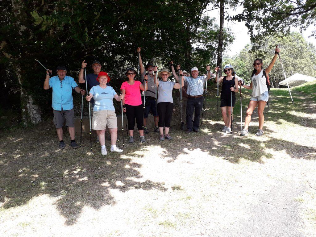 Journée multisports des seniors 60 + proposées par le Syndicat Mixte du Lévézou et le Point Info Seniors de la Communauté des communes Lévézou Pareloup sur le Lévézou en Aveyron