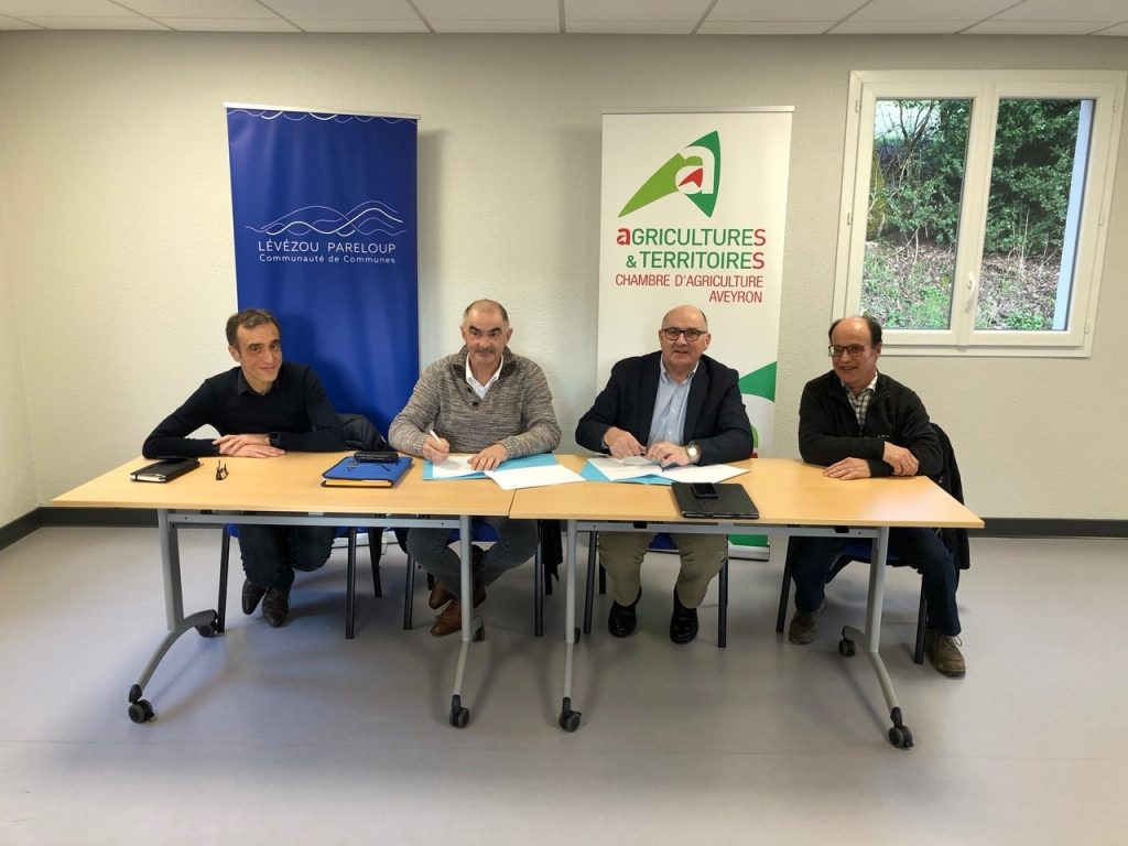 La Communauté de communes Lévézou-Pareloup signe un accord cadre avec la Chambre d'agriculture Aveyron