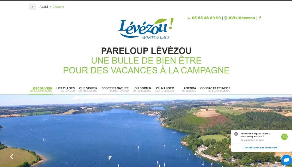 Nouveau site internet de l'office de tourisme de Pareloup Lévézou