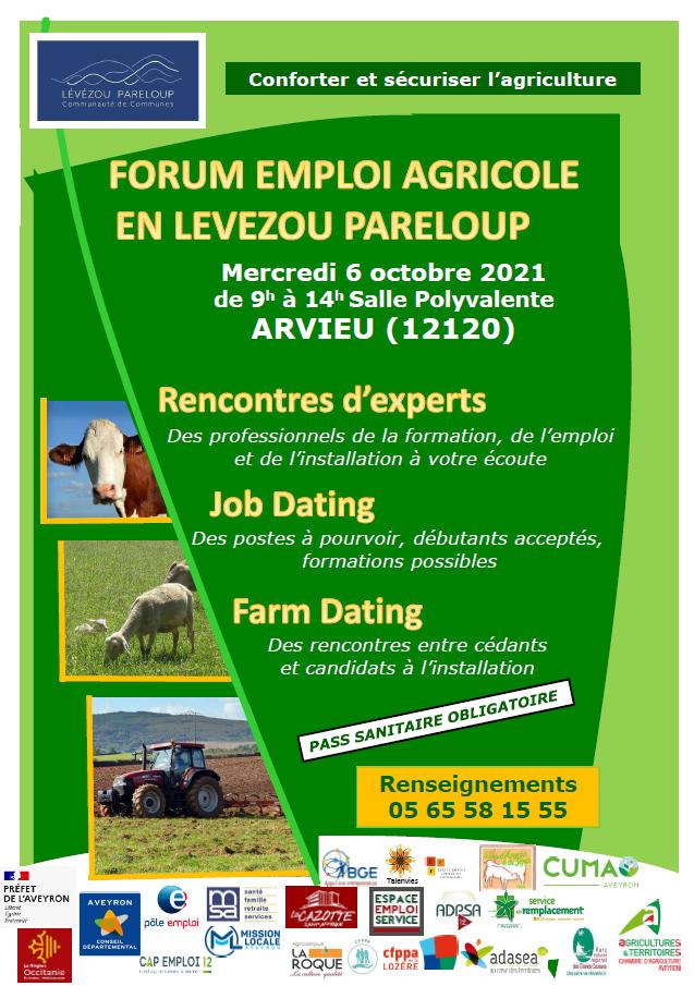 affiche farm dating 2021 à Arvieu le 6 octobre