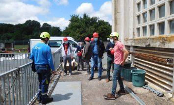 Visite de l'usine EDF par les élus d'Alrance