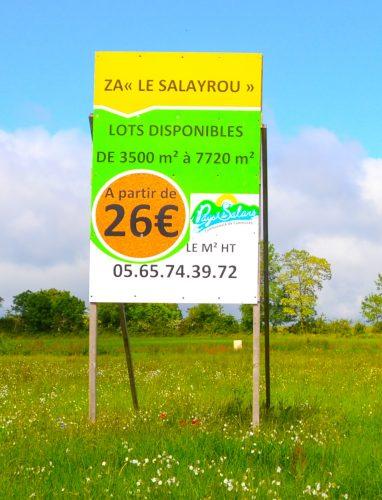 Terrains à vendre sur la ZA Le Salayrou à Flavin en Aveyron