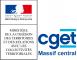 Logo du CGET, Commission Générale à l'Egalité des Territoires