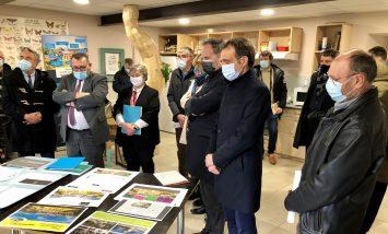 Visite du secrétaire d'Etat en charge de la ruralité à Arvieu
