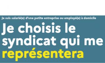 Vote Syndicat petite entreprise ou employé(e) à domicile