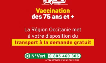 Transport a la demande pour vaccination